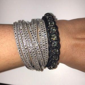 Three Swarovski crystal bracelets